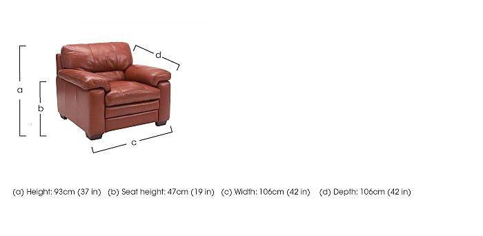 Carolina Leather Armchair in  on Furniture Village