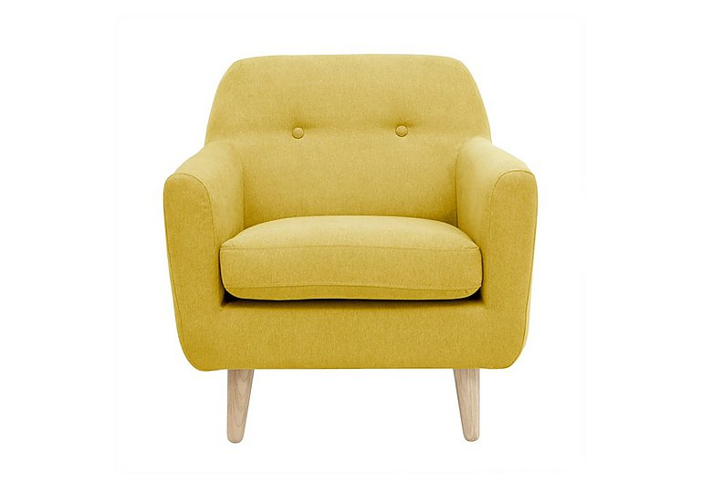 Casper Fabric Armchair in Imperio-401 Mustard-Nat Ft on Furniture Village