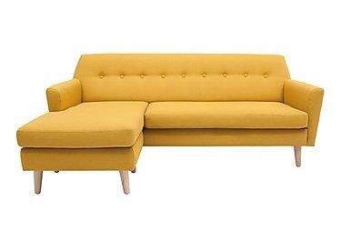 Casper Fabric Chaise in Imperio-401 Mustard-Nat Ft on Furniture Village