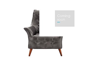 Chaser Leather Armchair in 280/06 Urban Grey on Furniture Village