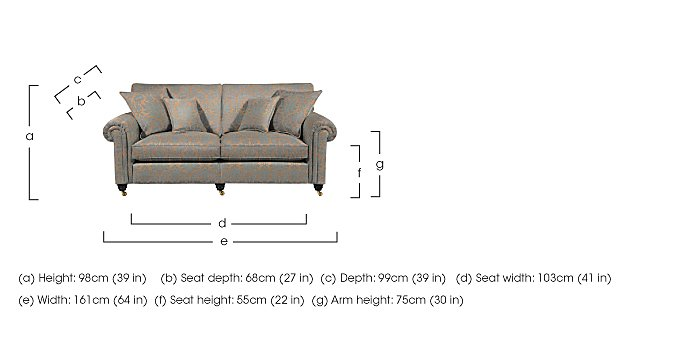 Chelsea Village 2 Seater Fabric Sofa in  on Furniture Village
