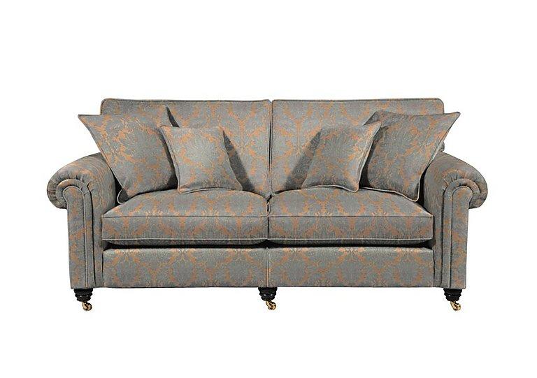 Chelsea Village 2 Seater Fabric Sofa in Oscar Damask Silver Birch on Furniture Village