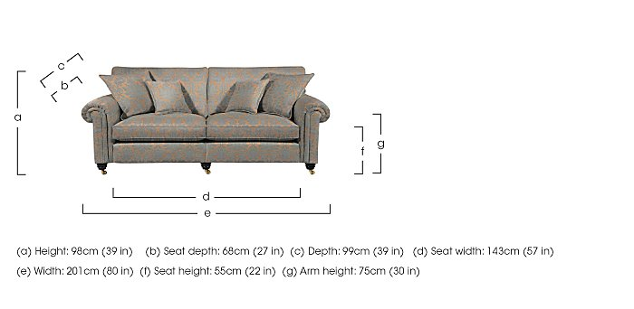 Chelsea Village 3 Seater Fabric Sofa in  on Furniture Village