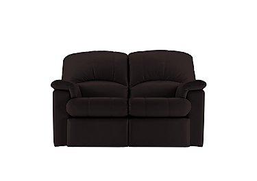 Chloe 2 Seater Small Leather Sofa in P200 Capri Chocolate on Furniture Village