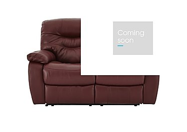 Relax Station Cozy 2 Seater Leather Recliner Sofa in Nc-035c Deep Red on Furniture Village