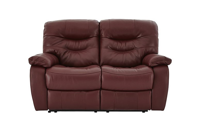 Relax Station Cozy 2 Seater Leather Recliner Sofa World