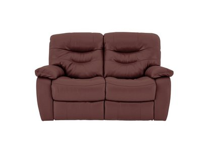 Relax Station Cozy 2 Seater Leather Manual Recliner Sofa - World of ...