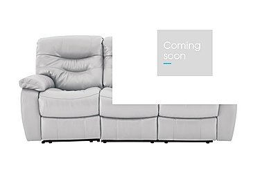 Relax Station Cozy 3 Seater Leather Recliner Sofa in Nc-946b Feather Gray on Furniture Village