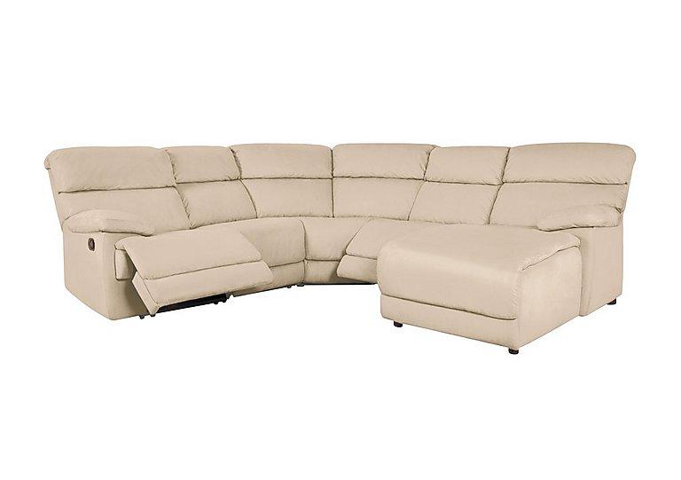 Cupola Fabric Recliner Corner Sofa in Atl-R050-Pebble on Furniture Village