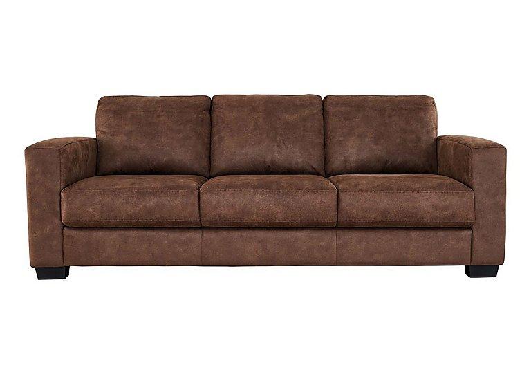 Dante 3 Seater Fabric Sofa in Bfa-Blj-R05 Hazelnut on Furniture Village