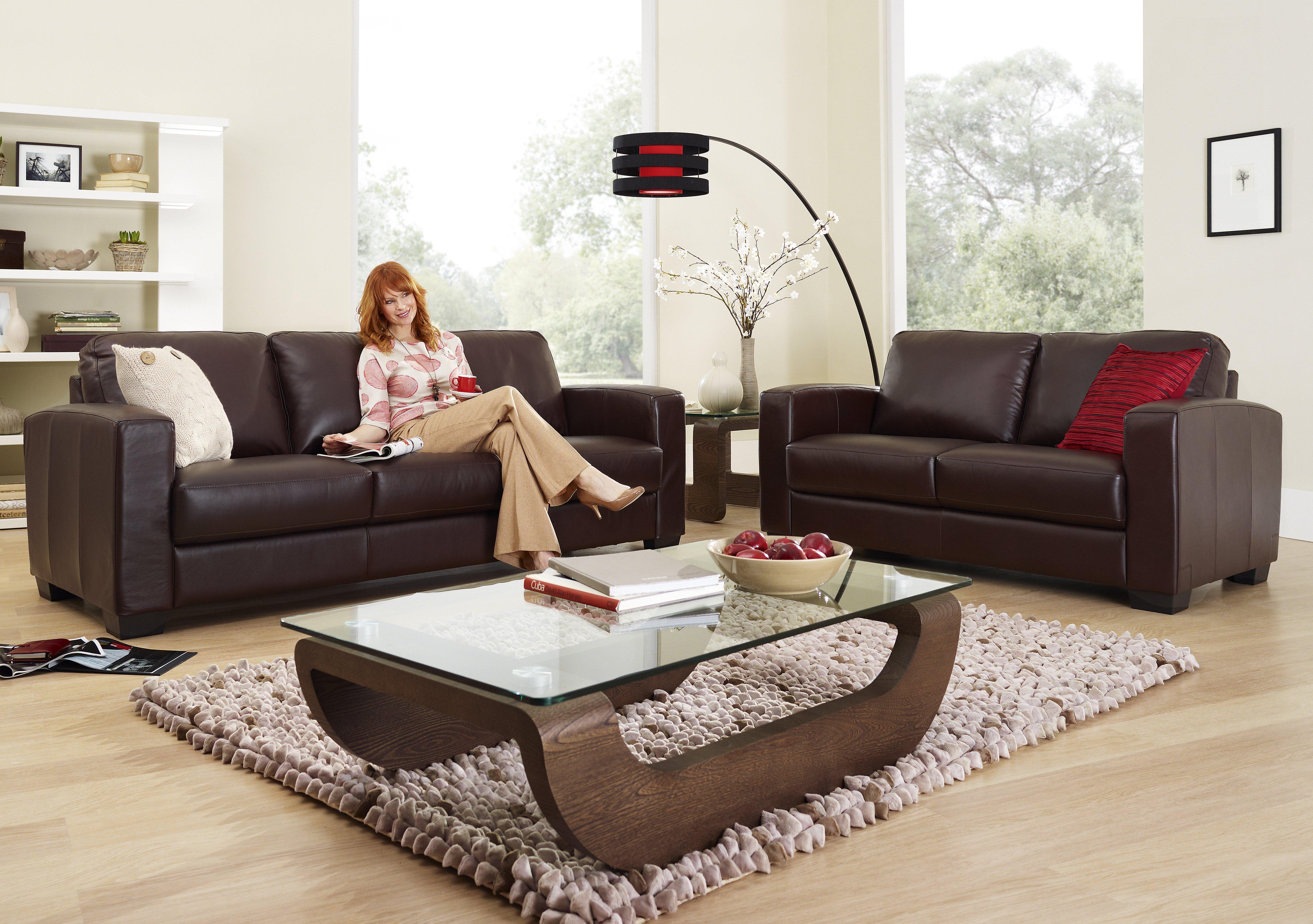 Dante 3 Seater Leather Sofa Furniture Village