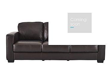 Dante 3 Seater Leather Sofa in Jc-157e  Warm Brown on Furniture Village