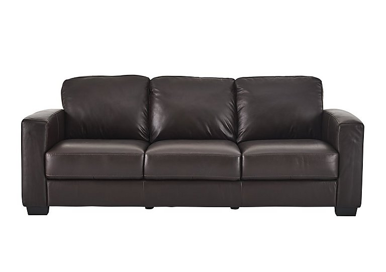 Dante 3 seater leather sofa furniture village for Leather sofa 7 seater