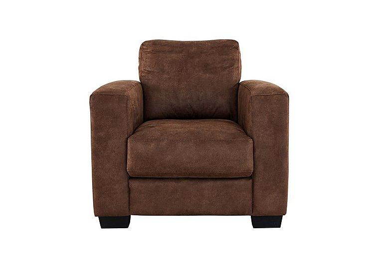Dante Fabric Recliner Armchair in Bfa-Blj-R05 Hazelnut on Furniture Village