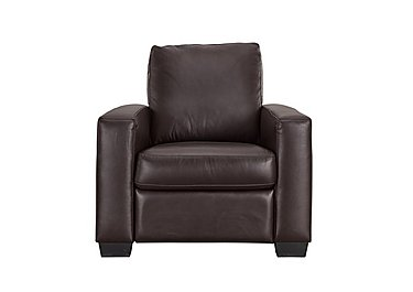 Dante Leather Recliner Armchair in Jc-157e  Warm Brown on Furniture Village