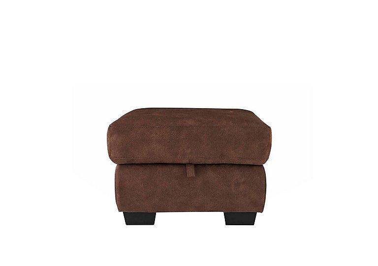 Dante Fabric Storage Footstool in Bfa-Blj-R05 Hazelnut on Furniture Village