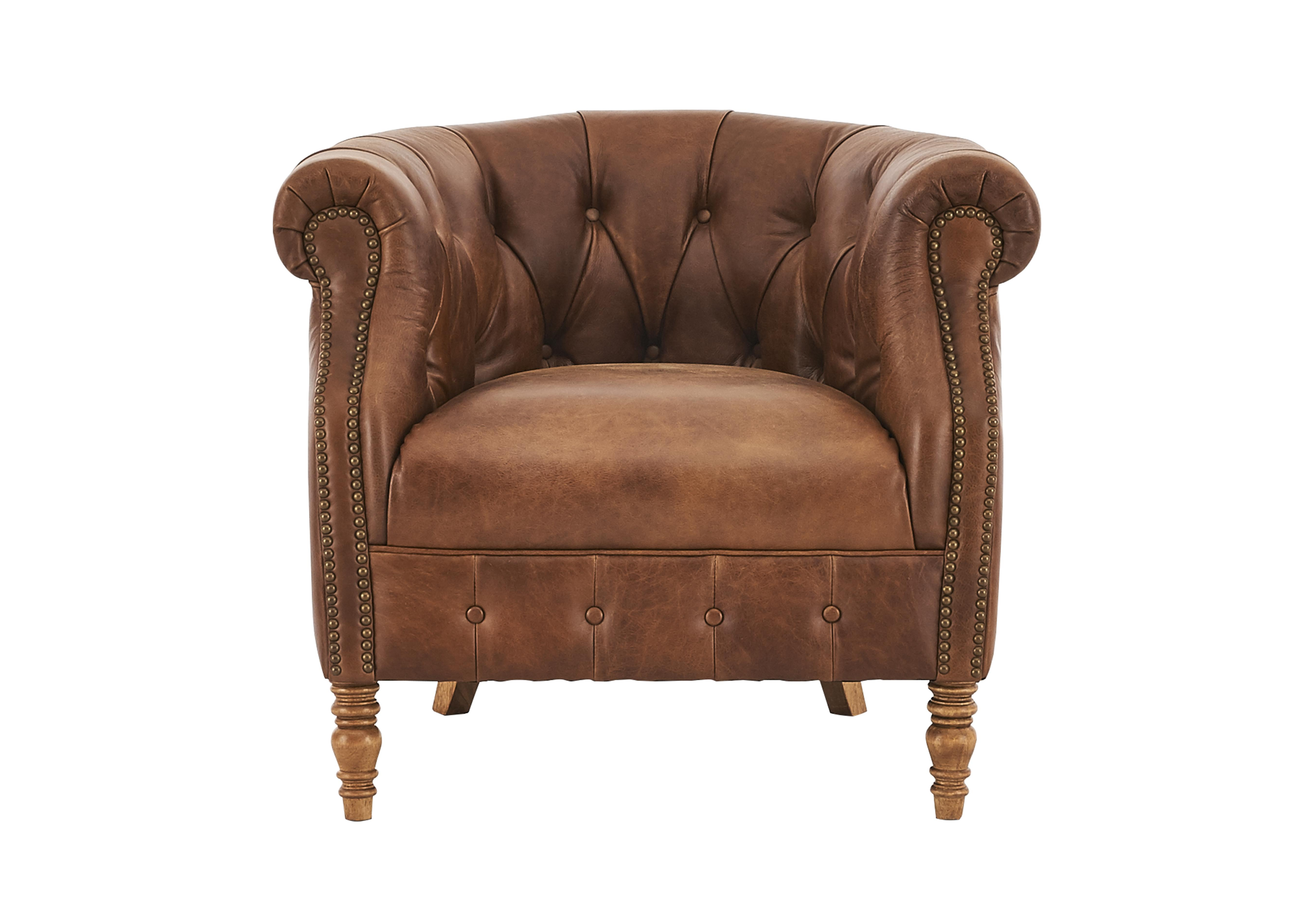 Ordinaire Alexander And James New England Dukes Leather Buttoned Armchair
