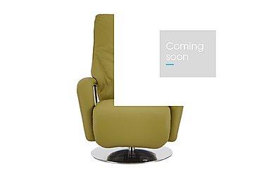 Zerostress Ellington Leather Recliner Armchair in Longlife Rustika - Olive on Furniture Village