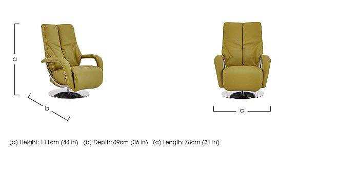 Zerostress Ellington Leather Recliner Armchair in  on Furniture Village