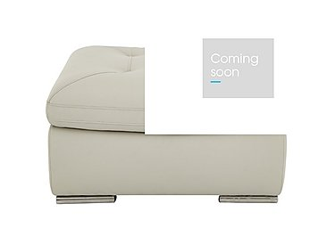 Embrace Leather Footstool in M9015 Grey on Furniture Village
