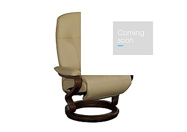 Zerostress Eske Leather Armchair with Footstool in Longlife Balsa on Furniture Village