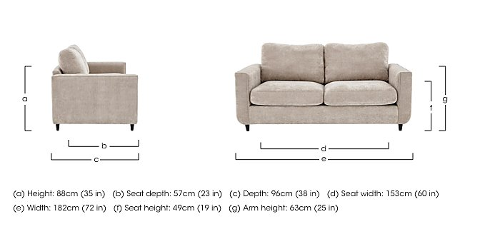 Esprit 3 Seater Fabric Sofa in  on Furniture Village