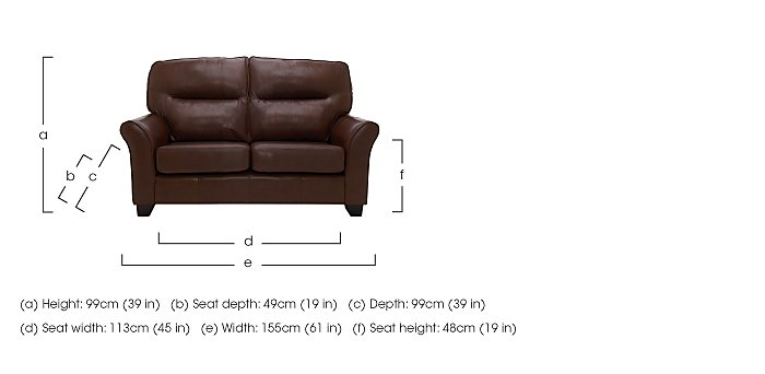 Gemma 2 Seater Leather Sofa in  on Furniture Village