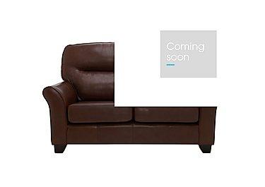 Gemma 2 Seater Leather Sofa in P210 Capri Oak on Furniture Village