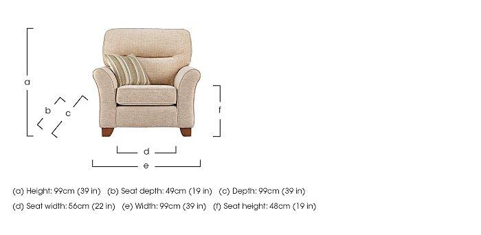 Gemma Fabric Armchair in  on Furniture Village