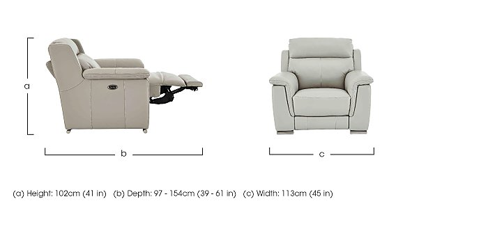 Glider Leather Recliner Armchair in  on Furniture Village