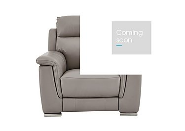 Glider Leather Recliner Armchair in An-940b Light Taupe on Furniture Village