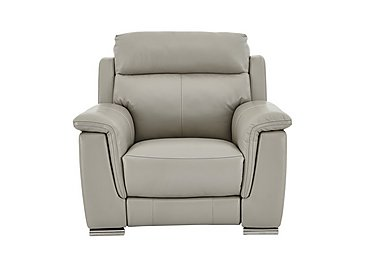 Glider Leather Recliner Armchair in Bv-946b Silver Grey on Furniture Village