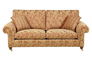 Hamilton 3 Seater Fabric Sofa in Rhapsody - Russet Sand on Furniture Village