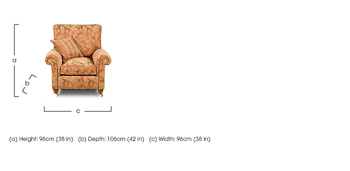 Hamilton Fabric Armchair in  on Furniture Village