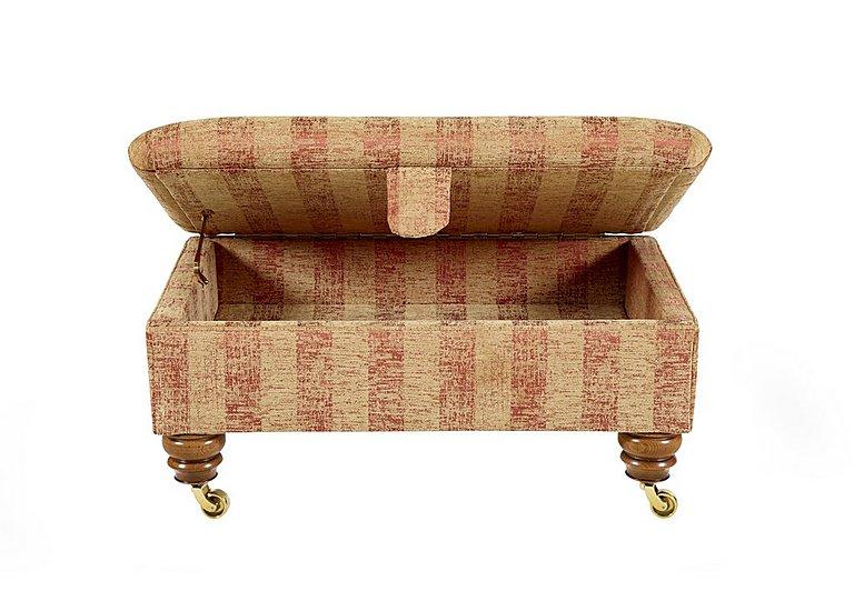 Hamilton Fabric Storage Footstool in Symphony Stripe - Russet Sand on Furniture Village
