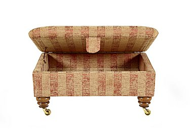 Hamilton Fabric Storage Footstool in Symphony Stripe - Russet Sand on Furniture Village