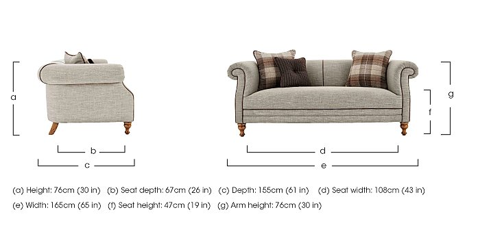 New England Hartford 2 Seater Fabric Sofa in  on Furniture Village