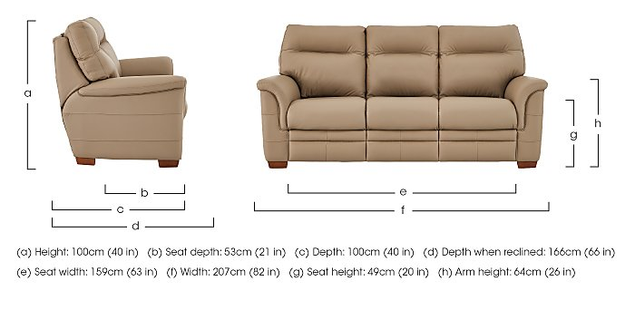 Hudson 3 Seater Leather Recliner Sofa in  on Furniture Village