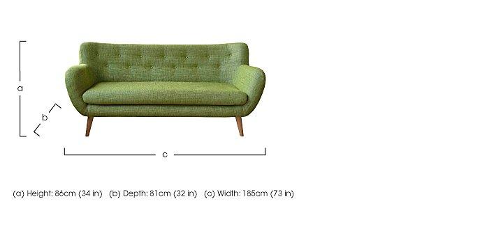 Jasper 3 Seater Fabric Sofa in  on Furniture Village