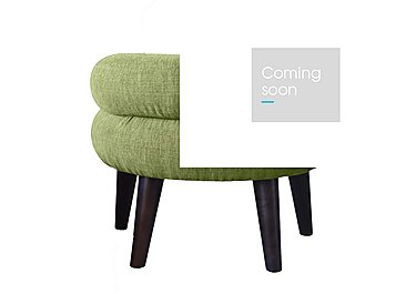 Jasper Fabric Footstool in Lemans 1070 Lime on Furniture Village