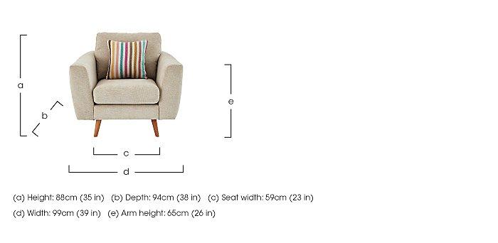 Jenson Fabric Armchair in  on Furniture Village