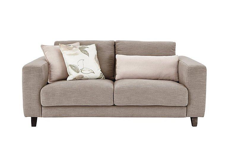 Kick 2 Seater Fabric Sofa in Cossette 245 Fawn Dark Feet on Furniture Village