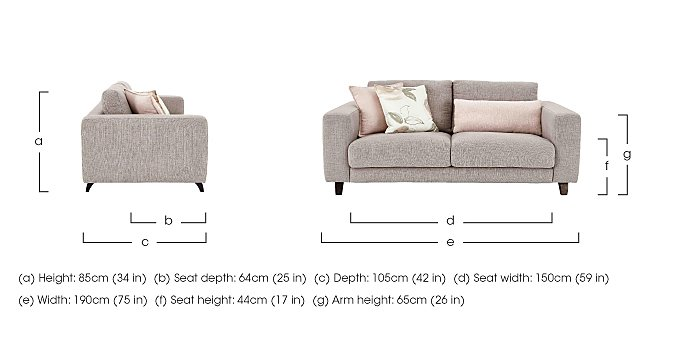 Kick 2.5 Seater Fabric Sofa in  on Furniture Village