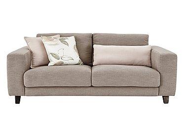 Kick 3 Seater Fabric Sofa in Cossette 245 Fawn Dark Feet on Furniture Village