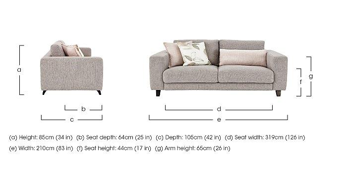 Kick 3 Seater Fabric Sofa in  on Furniture Village