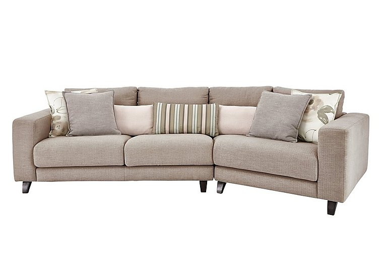 Elegant Kick K Angled Fabric Sofa