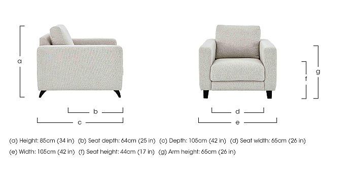 Kick Fabric Armchair in  on Furniture Village