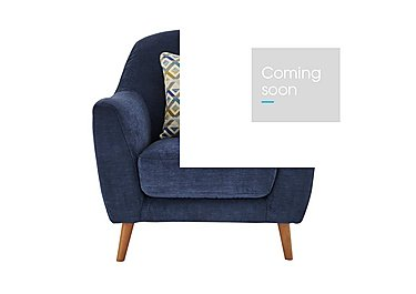 Kurve Fabric Armchair in Grd-19 Blue on Furniture Village