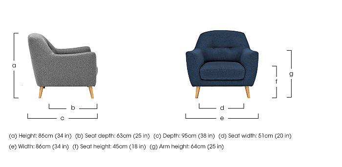 Kurve Fabric Armchair in  on Furniture Village