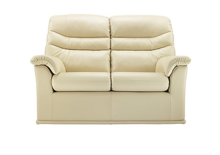 Malvern 2 Seater Leather Recliner Sofa in P206 Capri Cream on Furniture Village